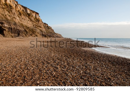 erosion by the seaside - stock photo