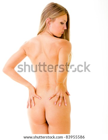 Erotica Portrait Isolated - stock photo