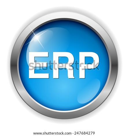 erp icon - stock photo