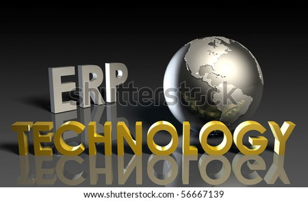 ERP Technology System Abstract as a Concept - stock photo