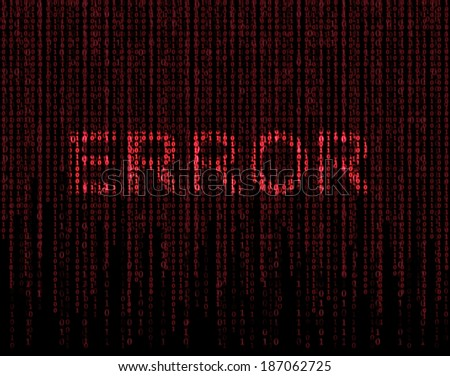 Error and matrix - stock photo