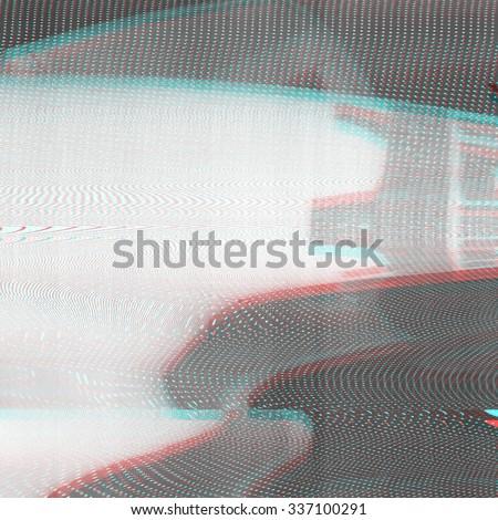 Error concept of no signal TV - stock photo