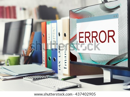 Error Disconnect Warning Failure AbEnd Concept - stock photo