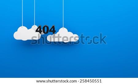 Error 404 God not found background 3d - stock photo