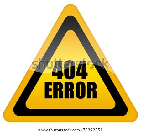 Error 404 icon - stock photo