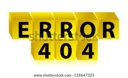 error 404 illustration design over a white background - stock photo