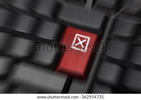 error keyboard key speed background - stock photo