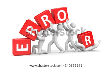 Error metaphor - stock photo