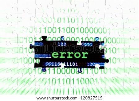 Error puzzle concept - stock photo