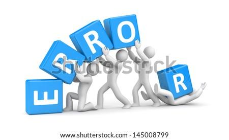 Error. Teamwork metaphor. - stock photo