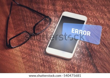 Error, Technology Concept
