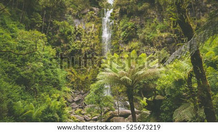 Erskine Falls at the Great Ocean Road in Victoria, Australia