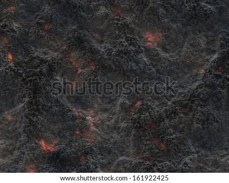 eruption volcano. solidified lava texture - stock photo
