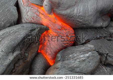 Eruption volcano Tolbachik - stock photo