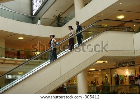 Escalator. - stock photo