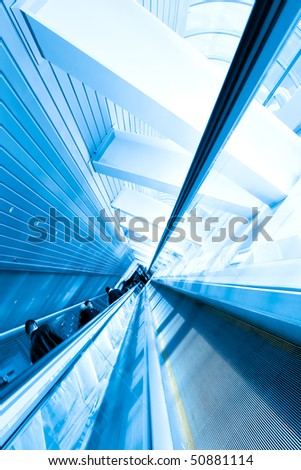 Escalator in business center