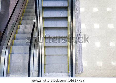 Escalator in some modern building.
