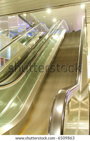 Escalator in the airport