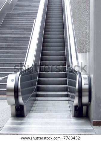 escalator stairs - stock photo
