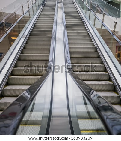 Escalator to move up high faster