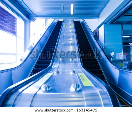 Escalators in  station
