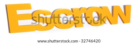 Escrow word in yellow - stock photo