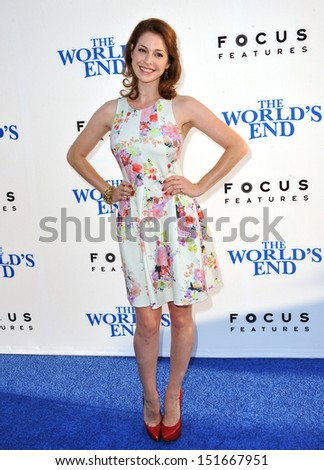 "Esme Bianco at the Los Angeles premiere of ""The World's End"" at the Cinerama Dome, Hollywood. August 21, 2013  Los Angeles, CA"