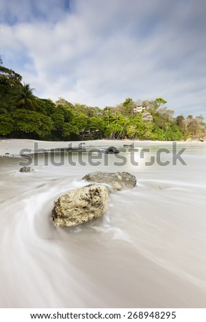 Espadilla beach near manuel antonio national park - stock photo