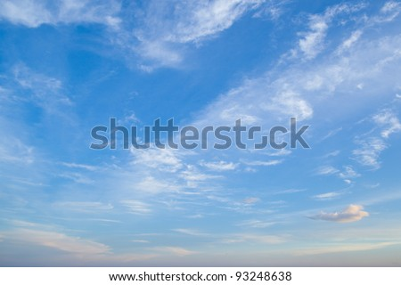 Especially in the morning sky is bright with good weather. - stock photo
