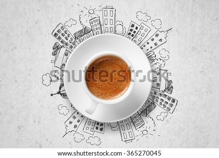 Espresso. - stock photo