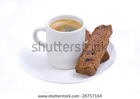 Espresso and Biscotti - stock photo