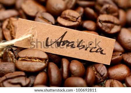 Espresso beans, Arabica - stock photo