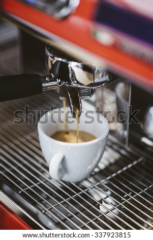 espresso coffee and cappuccino preparation