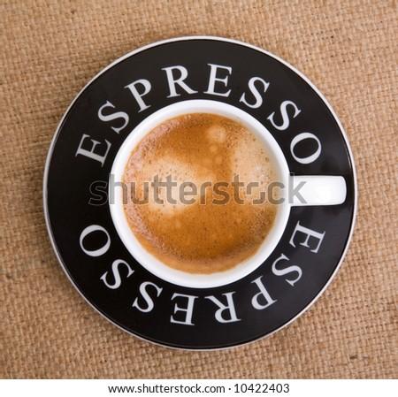 Espresso cup - stock photo