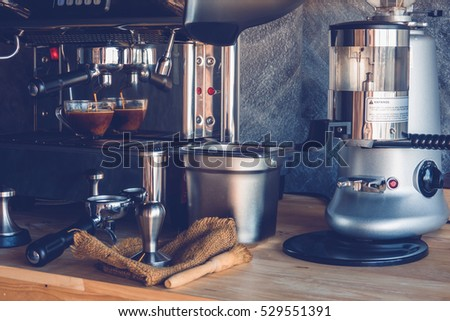 Pump driven espresso machines