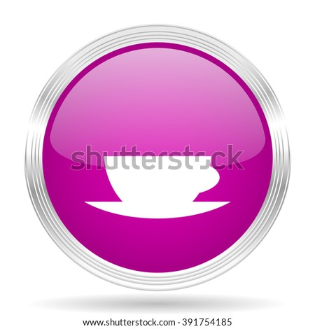 espresso pink modern web design glossy circle icon