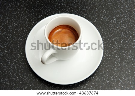 espresso with perfect crema - stock photo