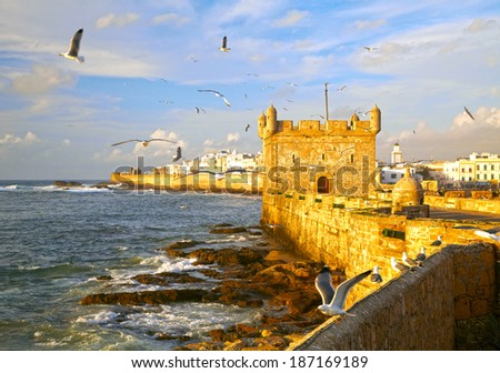 Essaouira Fortress, Morocco, Africa - stock photo