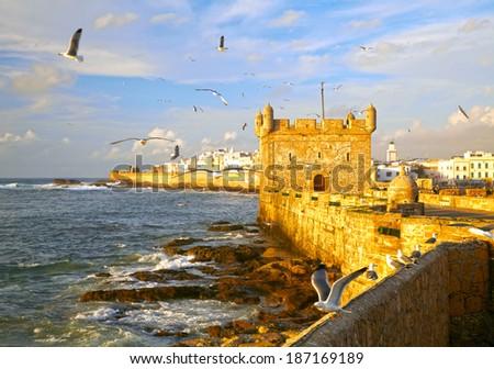 Essaouira Fortress, Morocco, Africa - stock photo