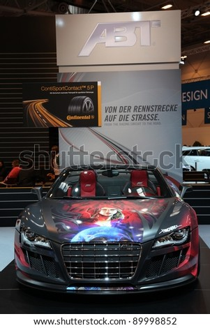 ESSEN, GERMANY - NOV 29: Audi R8 from ABT shown at the Essen Motor Show in Essen, Germany, on November 29, 2011
