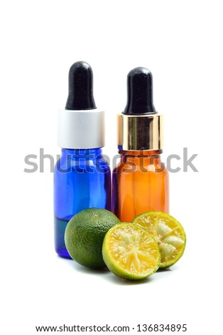 Essence oil with calamansi - stock photo