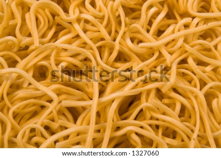 Essential ingredient for Asian cuisine - quick cooking noodles. - stock photo