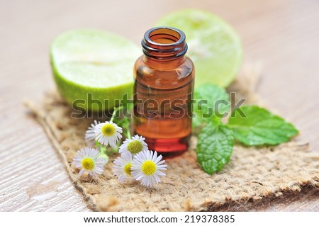 essential oil for aromatherapy. - stock photo