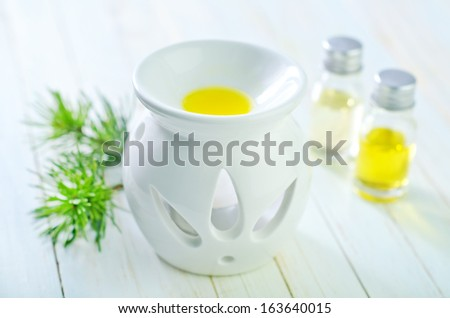 essential oil of pine - stock photo