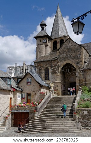 ESTAING, FRANCE, June 19, 2015 : Estaing is considered as one of the most picturesque villages in France.