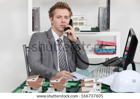 Estate agency office - stock photo