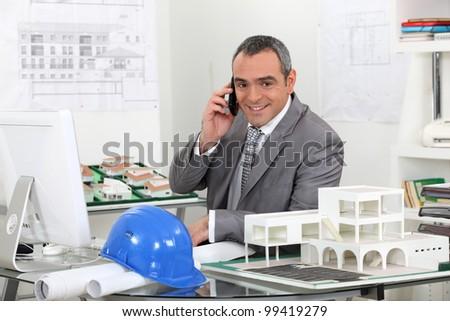 Estate agent - stock photo