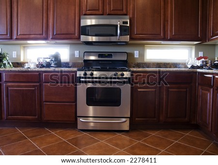 Estate Kitchen - stock photo