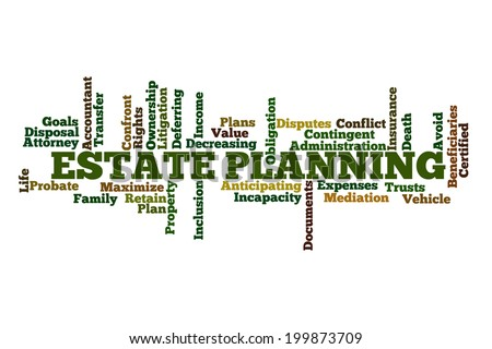 Estate Planning Word Cloud - stock photo