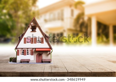 Estate real house business agent property concept.